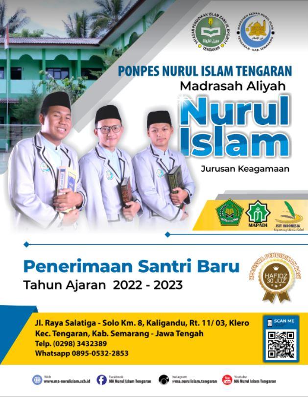 Penerimaan Santri Baru MA Nurul Islam Tengaran 2021 / 2022